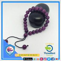 Fashion Gelang Batu Giok Ungu 8 mm tali serut - Purple Jade