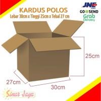 KARDUS POLOS (Min 5pcs) Uk 30x27cm Tinggi 25cm Di Pekanbaru