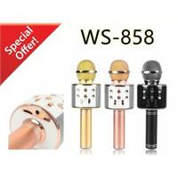 Microphone Wireless Hifi Speaker Bluetooth Portable Mic Karaoke WS-858