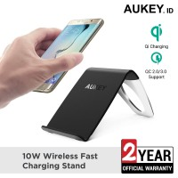 Aukey Wireless Charger 10W Fast Charging Stand - 500411