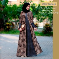 Maxi dress batik sogan