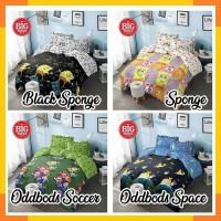 Bedcover + Sprei Rumbai 180x200 160 KINTAKUN motif Spongebob Oddbods