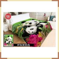 Selimut INTERNAL 160x200 Micro Flannel PANDA bamboo hewan