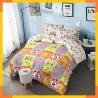 ID. Kintakun Bed Cover Queen Santika Deluxe D'luxe Spongebob
