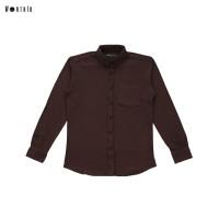 Worth ID Pique Shirt Dark Brown - S