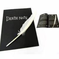 Replika Buku Anime Death Note Besar Bonus Poster+Pena Bulu 26cm x 19cm