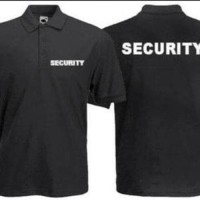 Seragam Security Pria Kaos Kerah Polo Security / Polo Tshirt Security