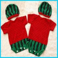 baju bayi laki laki perempuan bayi - lucu jumper semangka