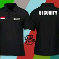 Seragam Security Pria Kaos Polo Shirt Obral Baju Kerah SECURiTY