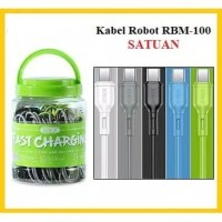 Kabel Data Charger Robot RBM100 Fast Charging 2A Micro USB 1 Meter