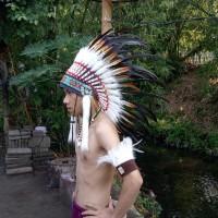 warbonnet/topi indian/topi bulu ayan /topi pesta/carnaval