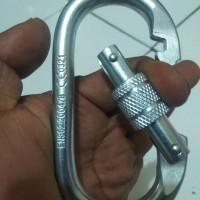 carabiner baja oval 25KN harness climbing tandem single not ok petzl