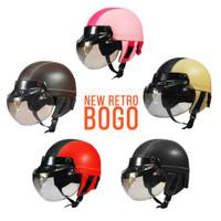 Helm Anak usia 5-10th Seri NEW Retro Kaca Model Bogo