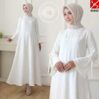 Baju Syari Wanita / Gamis Putih / Muslim Wanita #80880 STD