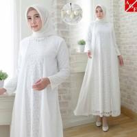 Baju Gamis Putih / Busana Muslim / Baju Muslim #80810 JMB