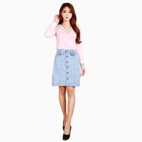 Rok mini denim Wanita Dewasa Casual Model Terbaru - Jfashion Hayang