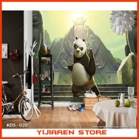 3D Wallpaper Dinding Wall Sticker Custom | Motif Kungfu Panda - 020