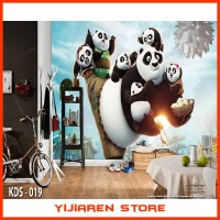 3D Wallpaper Dinding Wall Sticker Custom | Motif Kungfu Panda - 019