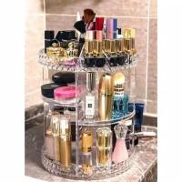 Rak Kosmetik Putar 360 derajat Rak Acrylic Estetic Rak Skincare Makeup