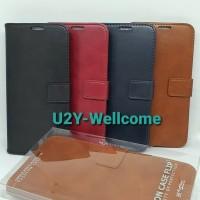 Flip Case Cover FS Kulit Samsung Galaxy A30S/A50/A50S Flip Cover
