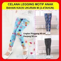 Celana Leging Anak Perempuan 2-4 Tahun Ukuran M Bahan Kaos Motif