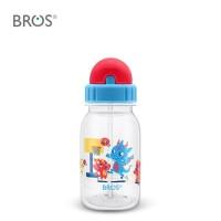 BROS Botol Minum Anak Sedotan /Crystal Basketball Player Straw (350ml)