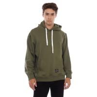 Sweater Hoodie Pria Cottonology Polos Hijau Army