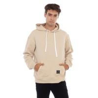 Sweater Hoodie Pria Cottonology Polos Krem