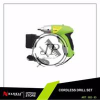 Nankai Cordless Drill Set Obeng Portable Otomatis Electric