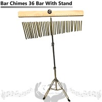 Bar Chimes 36 Gold With Stand Perkusi Drum