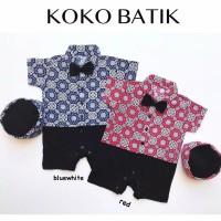 Koko Batik / Baju Muslim Bayi Laki / Koko Romper Bayi / Baju Lebaran