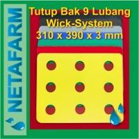 Impraboard Tutup Bak Hidroponik 9 Lubang Sistem Wick ( Set 15 pcs )