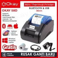 PRINTER BLUETOOTH KASIR / PPOB POS THERMAL 58MM OK-58D