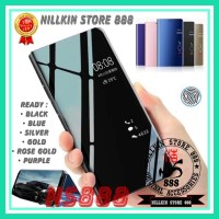 SAMSUNG GALAXY M21 M215 FLIP WALLET HARD CASE CLEAR VIEW STANDING PC