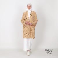 Outer Panjang Creamdasi - Emikoawa Atasan Luaran Vest Outerwear Premiu
