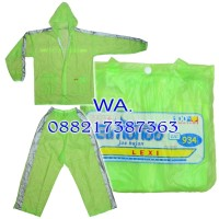 All Size Jas hujan Jaket Celana - Elmondo LEXI warna Hijau