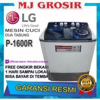 MESIN CUCI LG P 1600 R 16KG 2 TABUNG 1600R LOW WATT