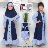 Gamis anak perempuan - baju muslim anak cewek 1-7tahun M-vin - 2-3 tahun