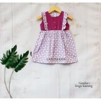 Baju Baby Dress Batik Anak Perempuan Model 4