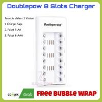 Doublepow Baterai Charger 8 Slots / Paket Baterai Cas 8 AA / 8 AAA - Charger Saja