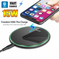 INBEX Wireless Charger/Ultra Slim Qi-Certified 15W Charging Pad
