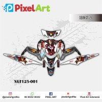 STICKER DECAL MOTOR YAMAHA XEON GT 125 IRON MAN PREMIUM QUALITY
