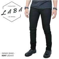 Skinny Jeans Hitam Pria Merk KENT Bahan Stretch - Celana Panjang Cowok