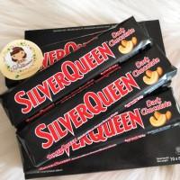 Coklat silverqueen dark cashew batangan 65 gram ukuran besar
