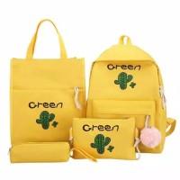 GREEN - Tas Ransel Backpack Fashion