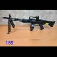M159 Premium Mainan Spiring Kokang Senapan M60VN AEG Airsoft Sniper