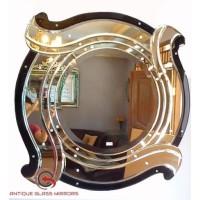 Hiasan Dinding Ruang Tamu Cermin Kaca Ukir Venetian Mirror Bulat 70cm