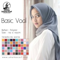 Jilbab Segiempat Basic Voal