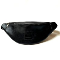 Tas Selempang Leather Premium / Waist Bag KELVEY NO 1 - Coklat