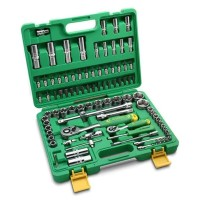 Tekiro 1/4 Inch - 1/2 Inch Socket Set Plastik 94 Pcs /Kunci Sock Set